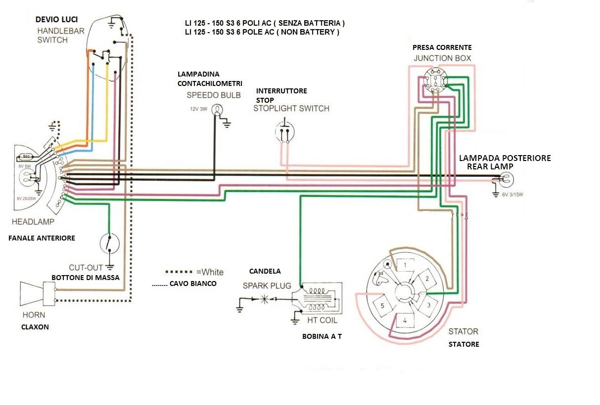 Schema Elettrico Lambretta J50 : Lambretta accessori ricambi