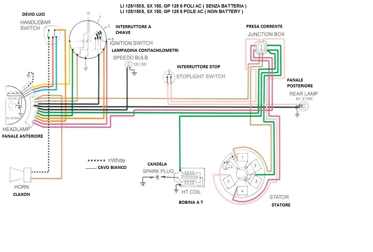 Schema Elettrico Lambretta J50 : Schema elettrico lambretta j